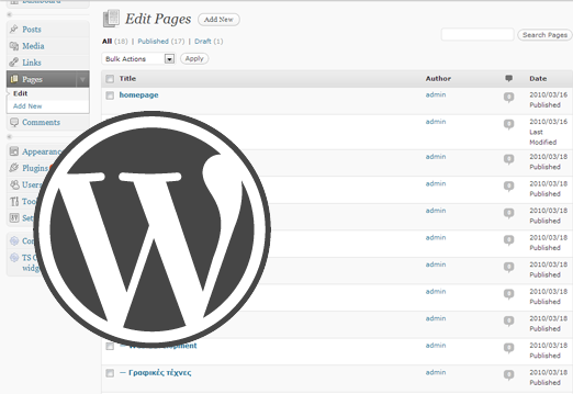 wordpress site development